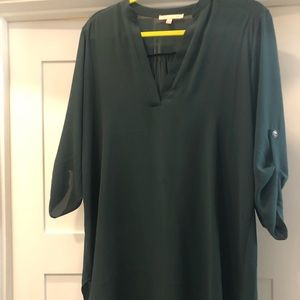 Green, tunic top, Gibson Latimer